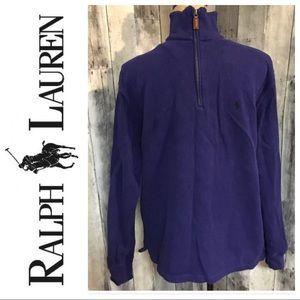 Polo Ralph Lauren Blue 1/4 Zip Sweater Small